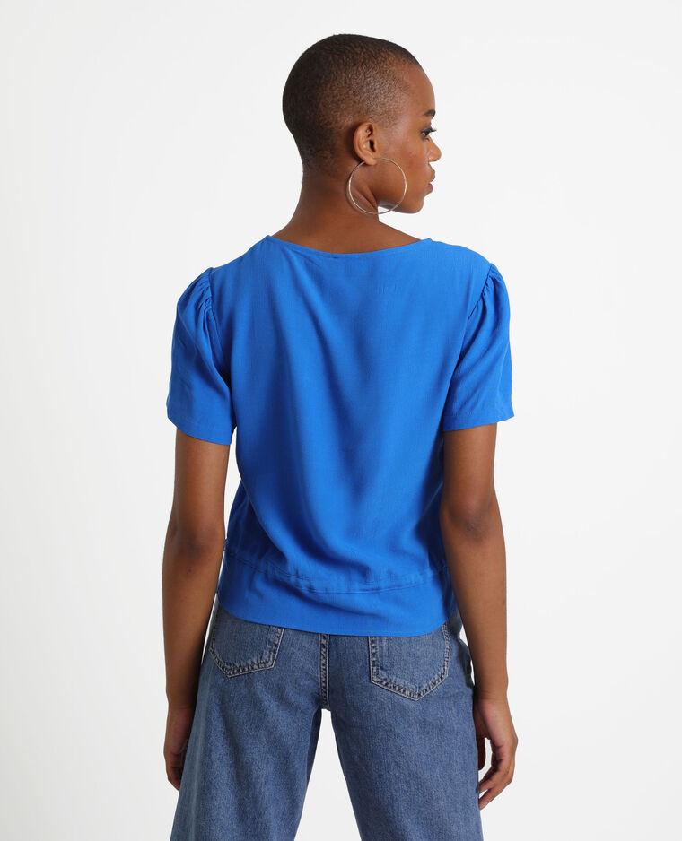 Chemisier à manches courtes bleu
