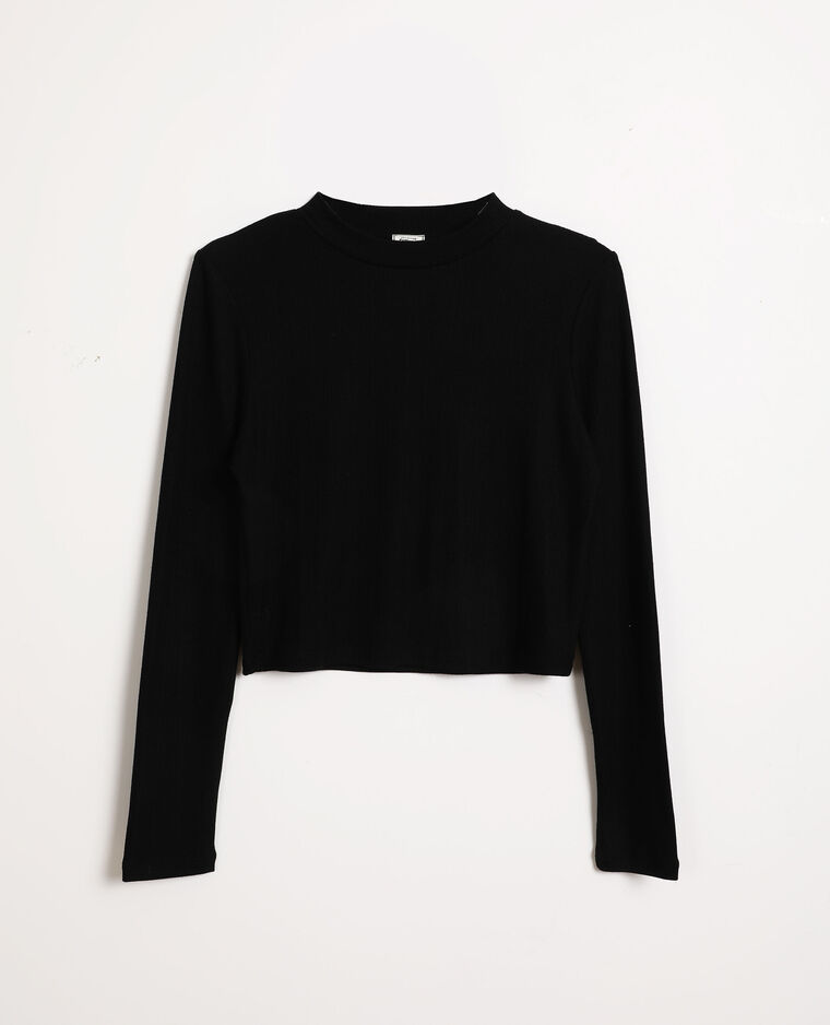 Cropped top noir