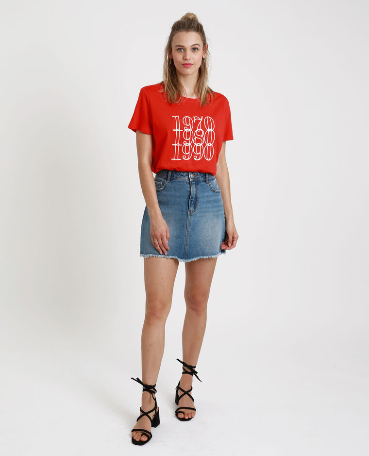 T-shirt imprimé rouge