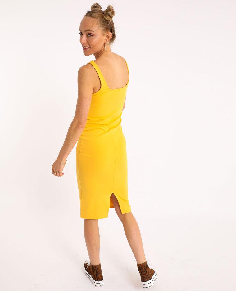 Robe bodycon jaune - Pimkie