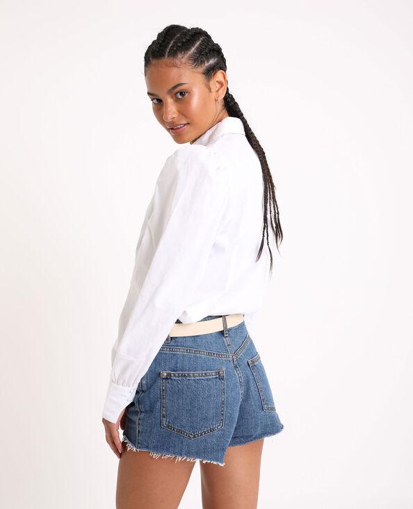 Chemise à manches bouffantes blanc
