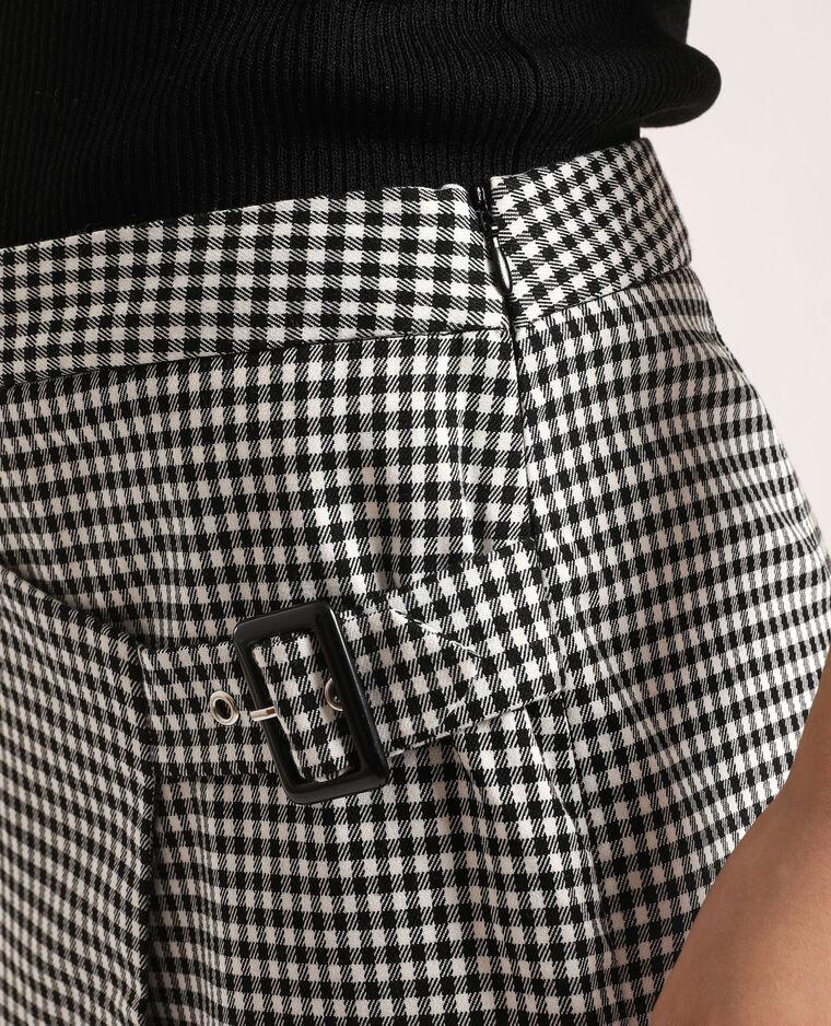 Jupe short à carreaux noir - Pimkie