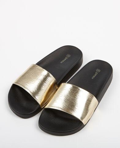 Sandales plates à bride doré - Pimkie