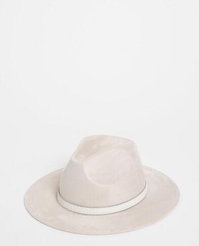 Chapeau en suédine blanc - Pimkie