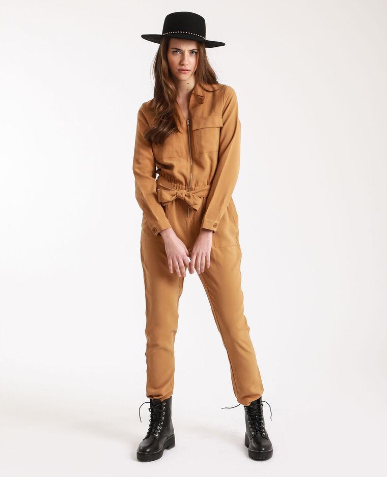 Combi-pantalon à poches camel