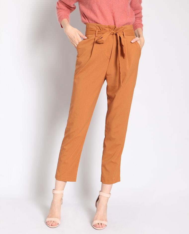 Pantalon carotte rouille - Pimkie