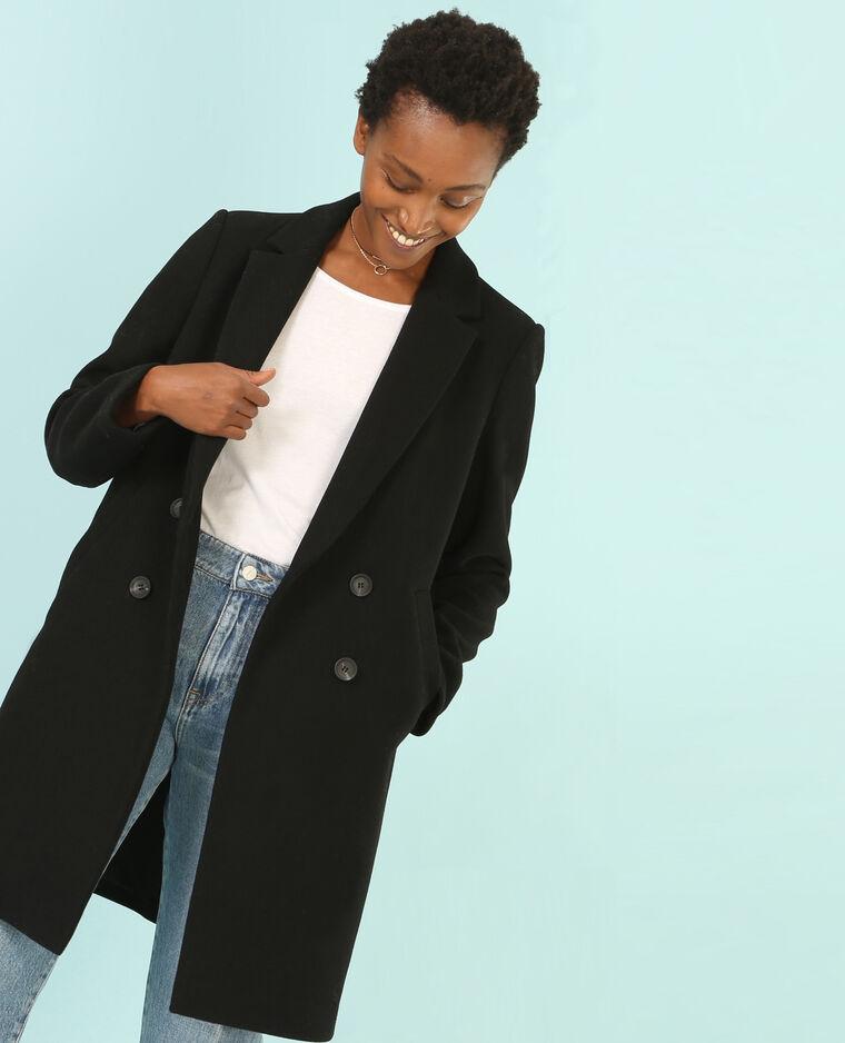 Manteau long style masculin noir