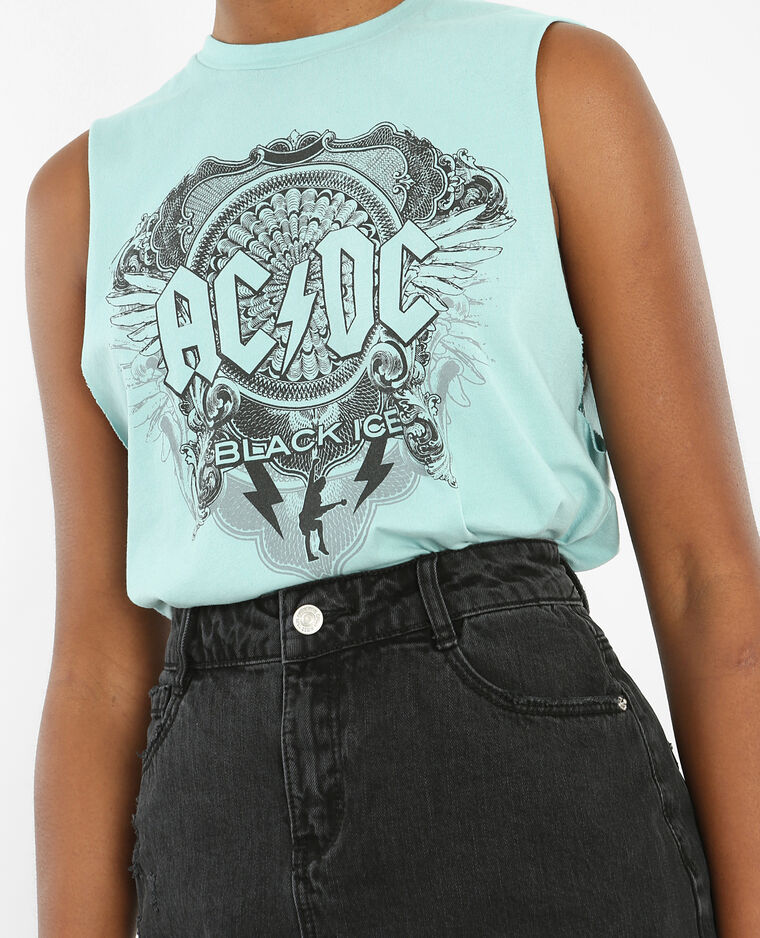 T-shirt licence ACDC bleu