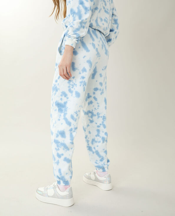 Jogging tie and dye blanc
