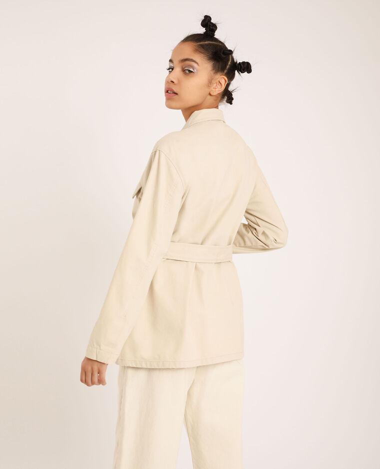 Veste saharienne blanc cassé