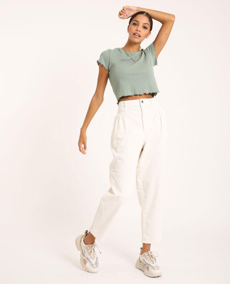 Pantalon en velours blanc