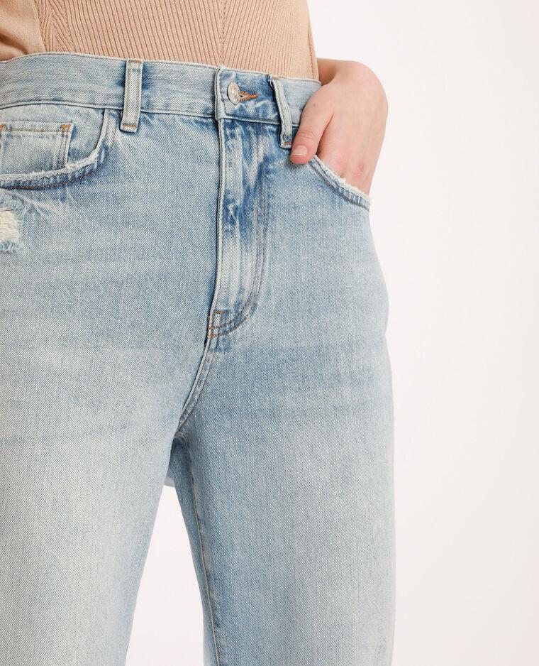 Jean straight high waist bleu délavé