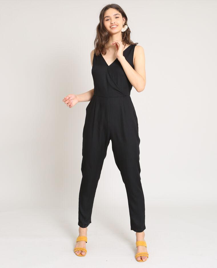 3e602a71d273f5 Combi-pantalon croisée noir - 140620899A08 | Pimkie