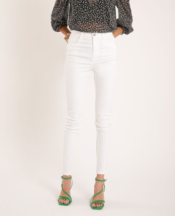 Jean skinny taille haute blanc - Pimkie