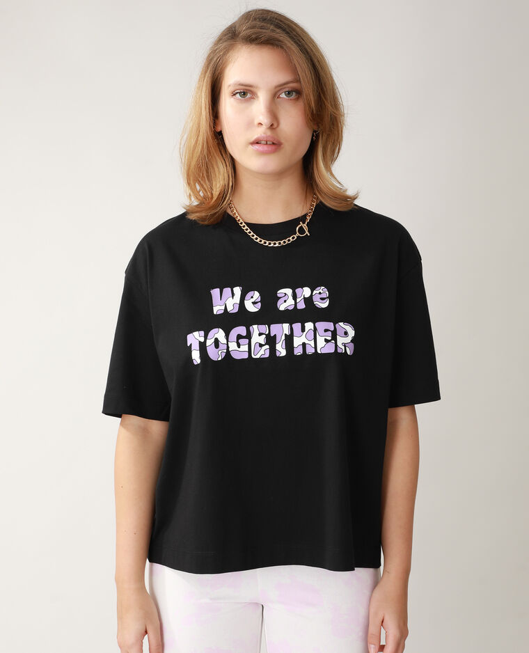 T-shirt oversize noir - Pimkie