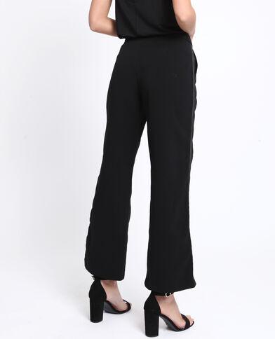 Pantalon à galon noir