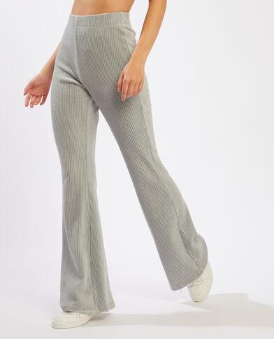 Pantalon flare côtelé kaki - Pimkie