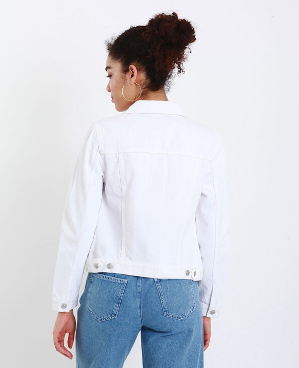 Veste en jean écru
