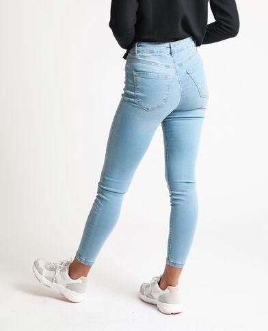 Jean skinny taille haute bleu délavé - Pimkie