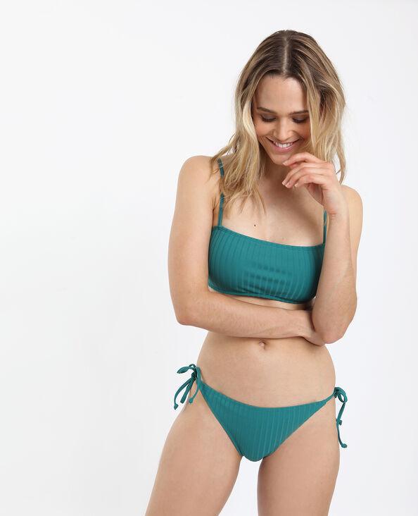 Bas de bikini à nœuds vert