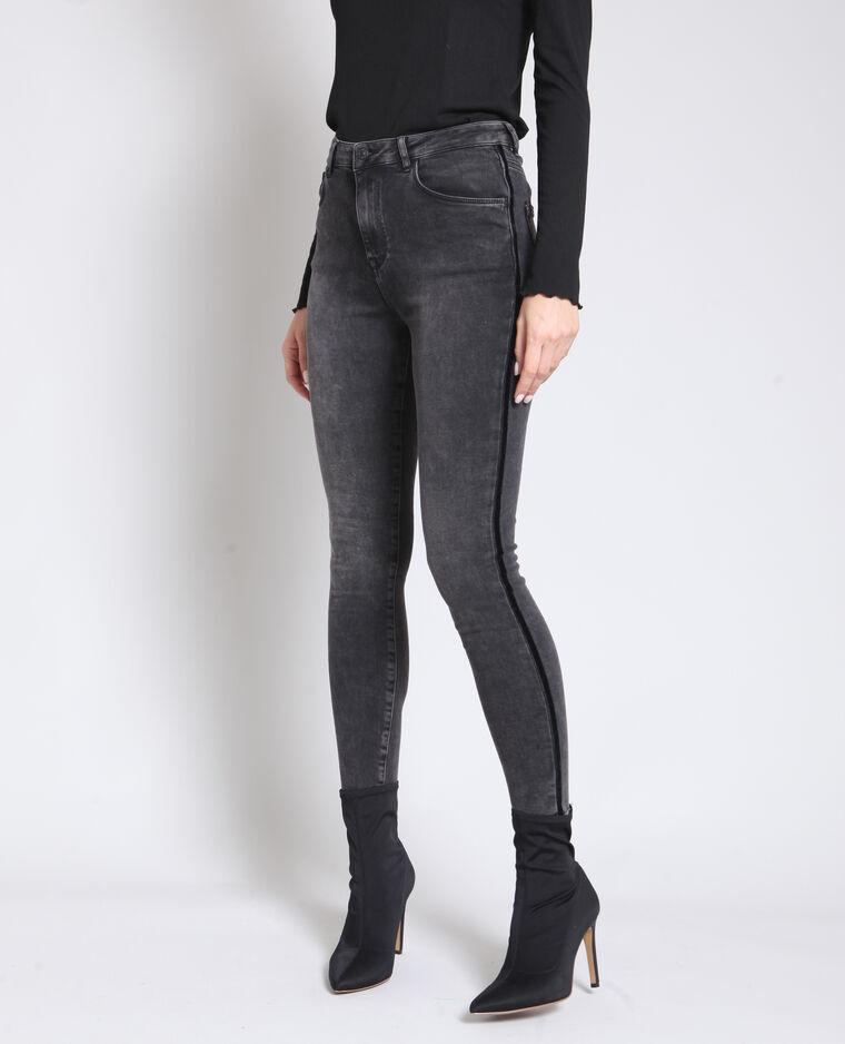 Jean skinny délavé gris
