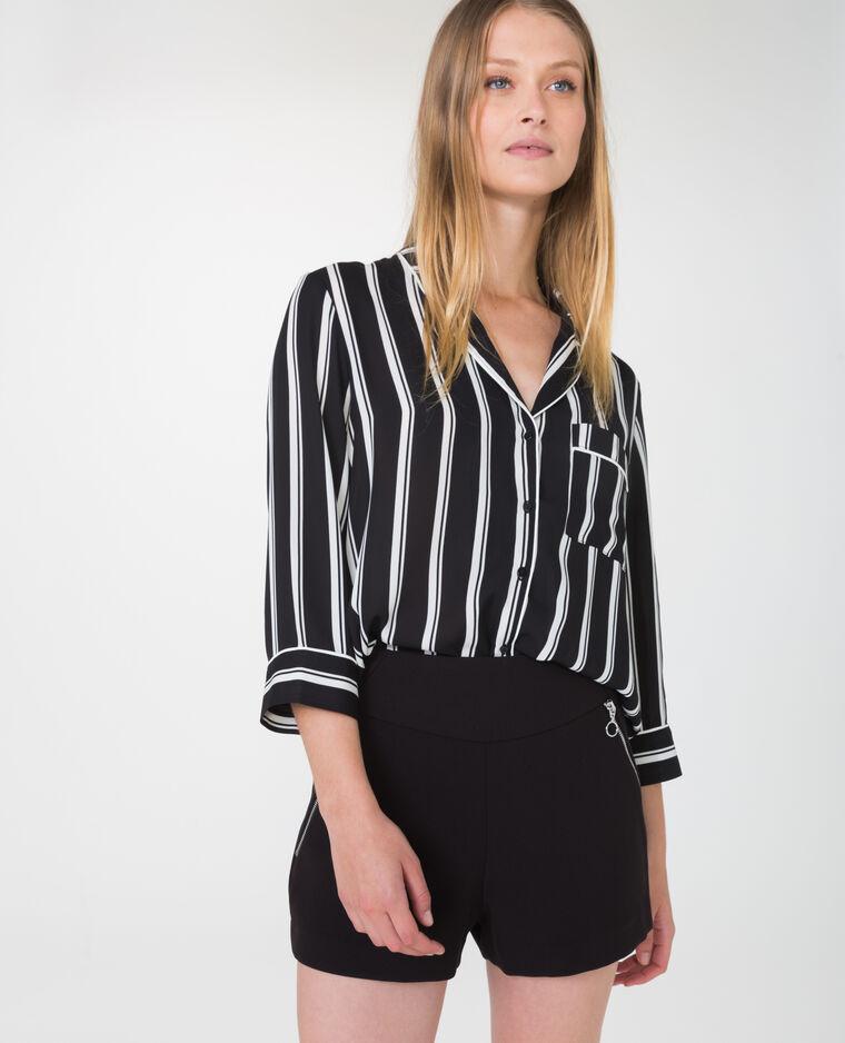 Chemise style pyjama noir