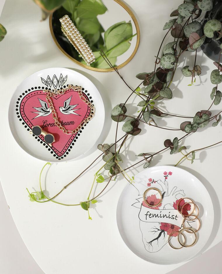 Lot de 2 coupelles métalliques cœur rose - Pimkie