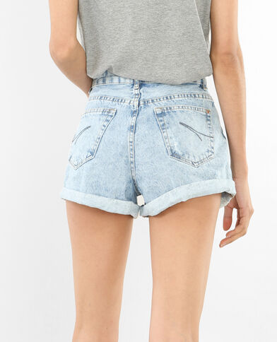 Short en jean délavé bleu délavé - Pimkie