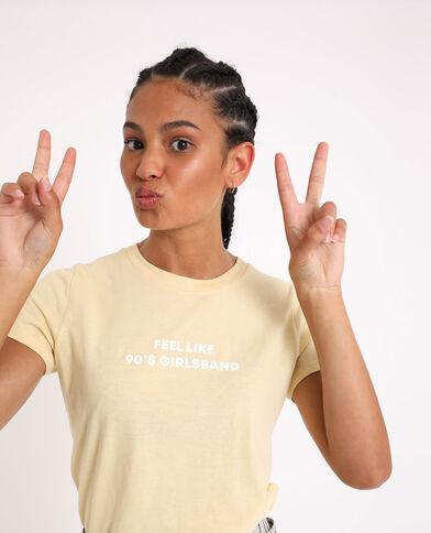 T-shirt basique jaune