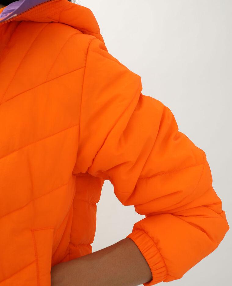 Doudoune bicolore orange