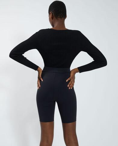 Body côtelé noir - Pimkie