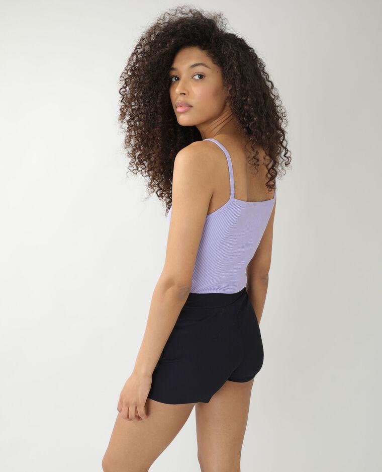 Top côtelé violet - Pimkie