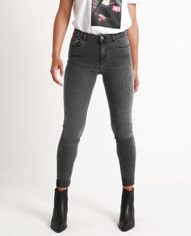 Jean slim mid waist gris chiné