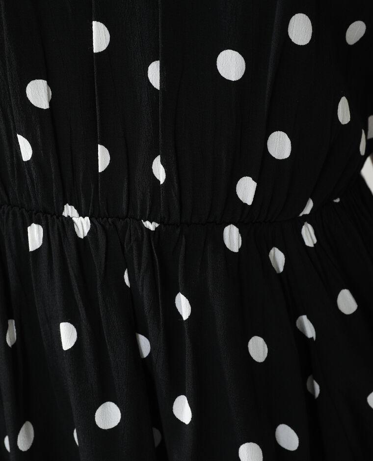 Robe à pois noir - Pimkie