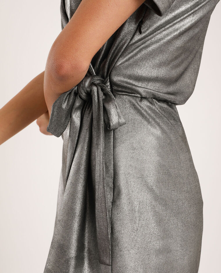Combishort manches bouffantes gris