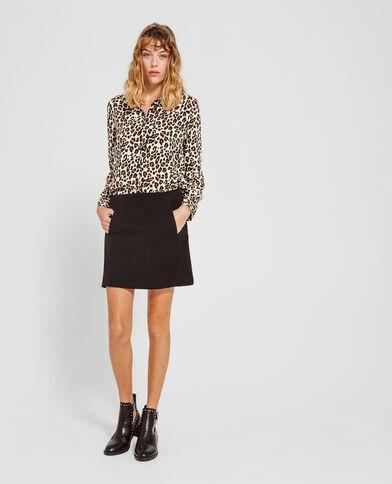 Mini jupe à poches noir