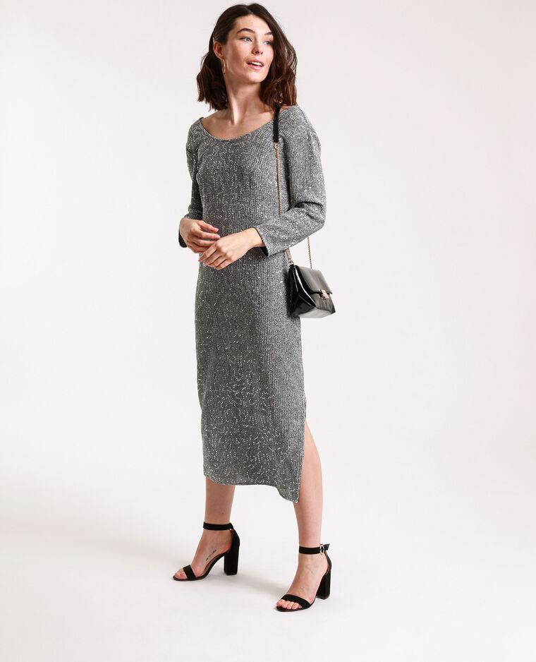 Robe à sequins gris argenté - Pimkie
