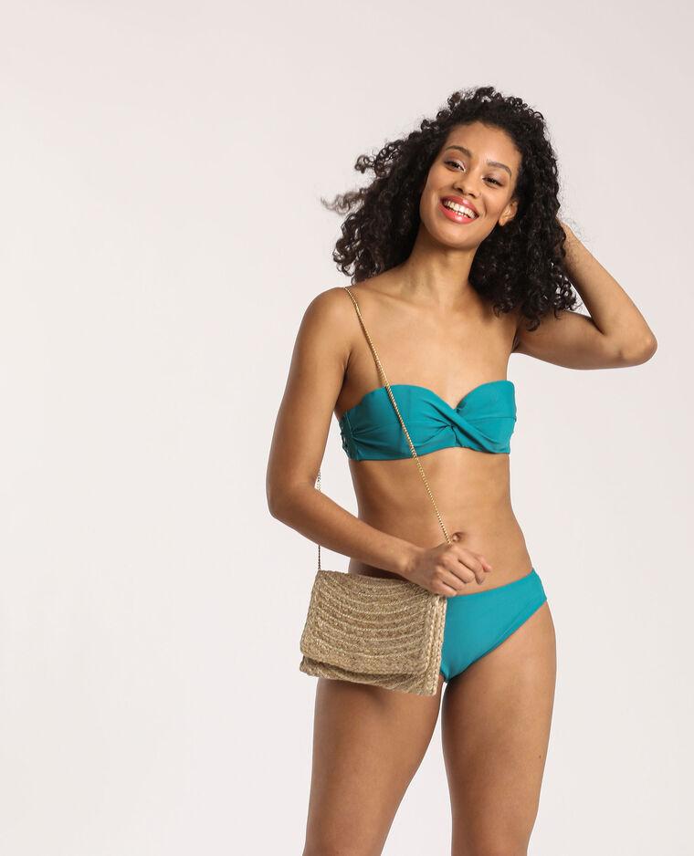 Haut de bikini corbeille turquoise