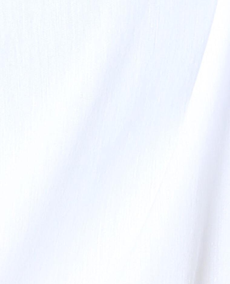 Chemise unie blanc