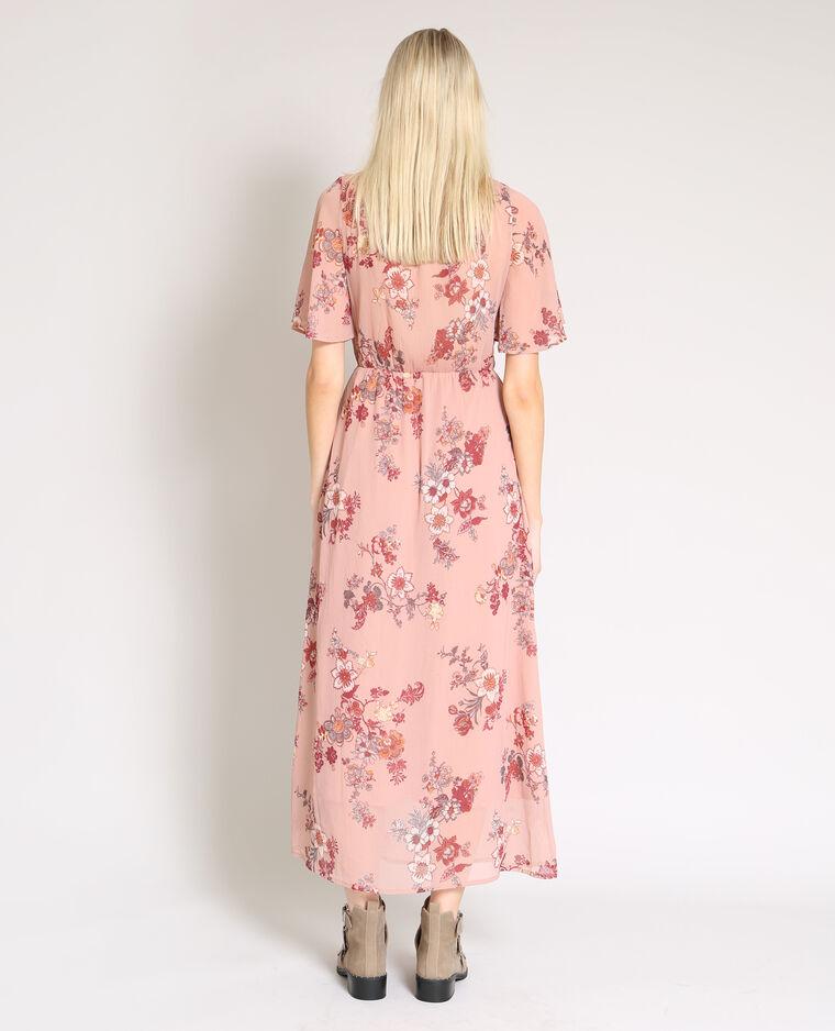 Robe Longue A Fleurs Rose Pale 780900i03e3a Pimkie