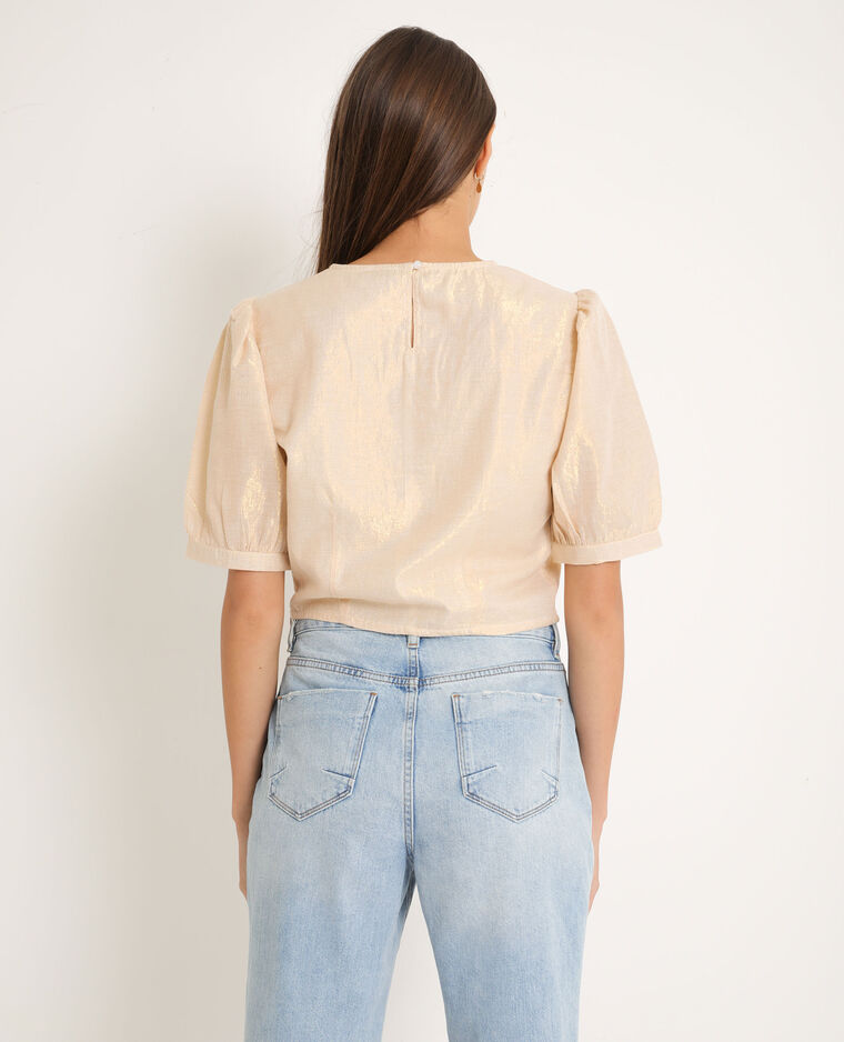 Blouse courte or