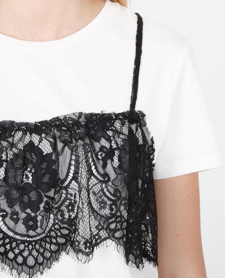 T-shirt brassière superposée blanc
