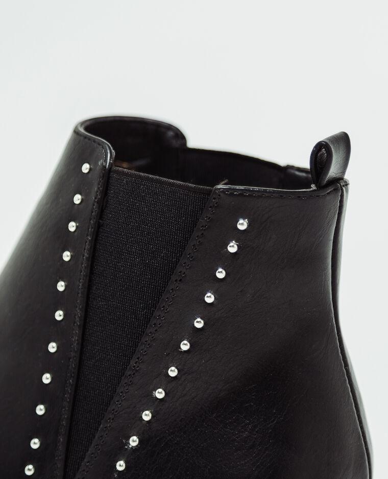 Bottines en faux cuir noir