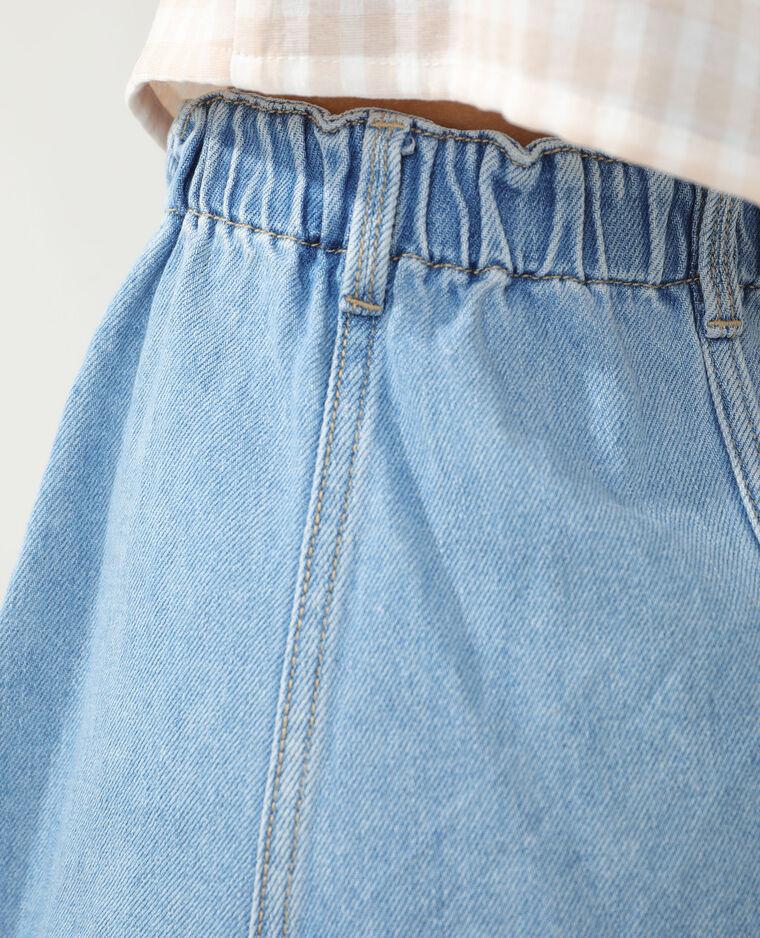 Jupe en jean bleu délavé - Pimkie