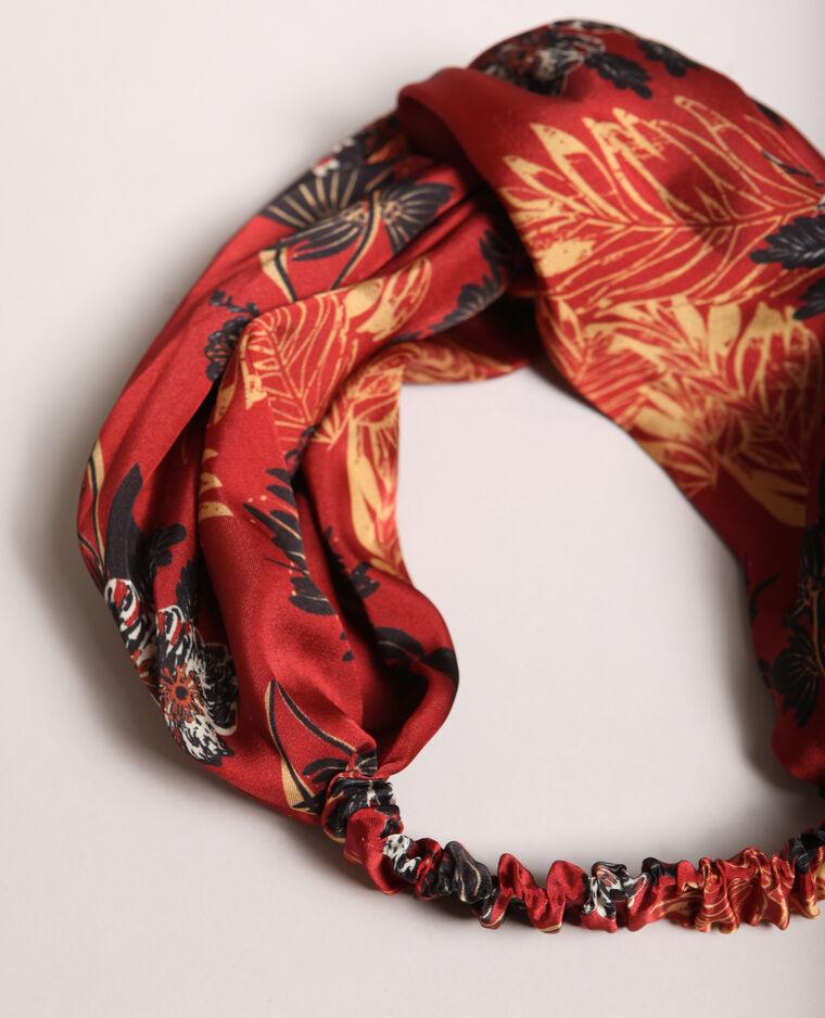 Headband imprimé rouge