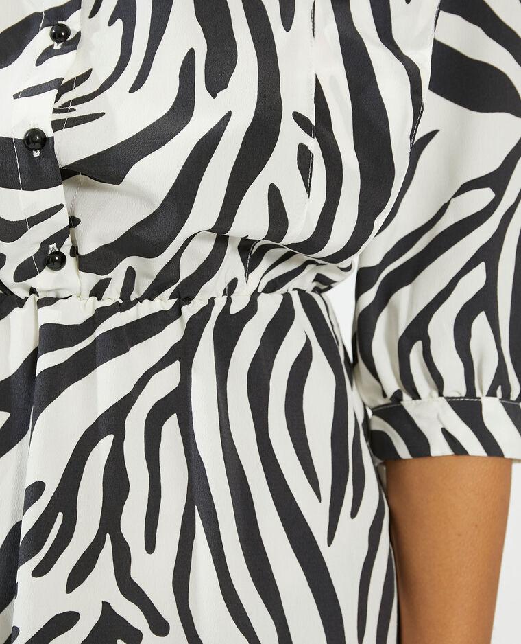 Robe chemise à motifs fantaisie blanc - Pimkie
