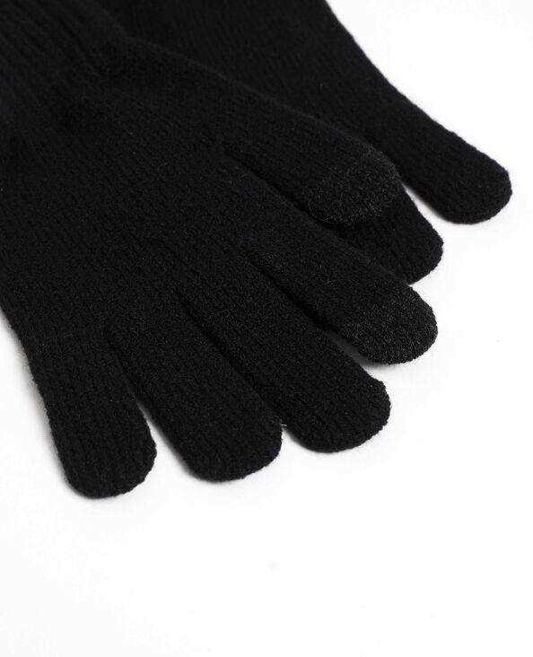 Gants tactiles pour smartphone noir