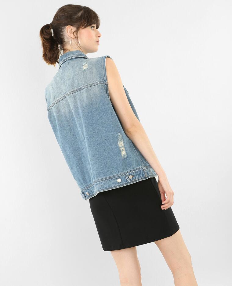 Veste en jean sans manches bleu denim