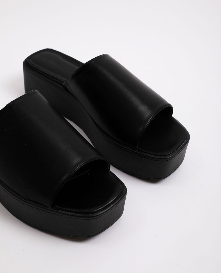 Sandales à plateforme noir