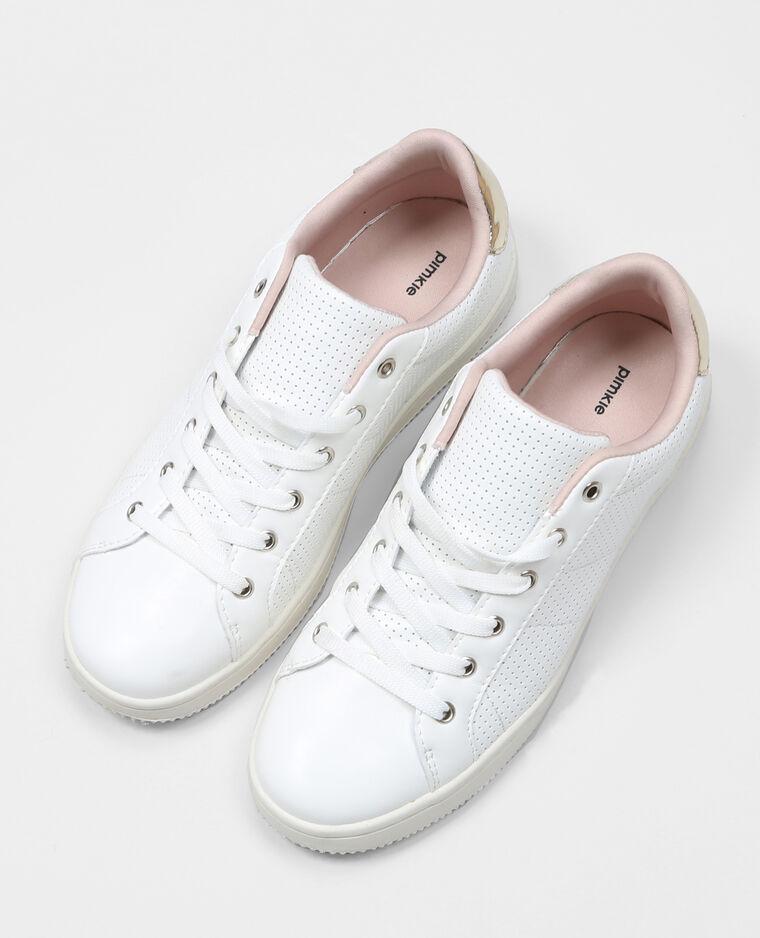 Baskets à lacets blanc